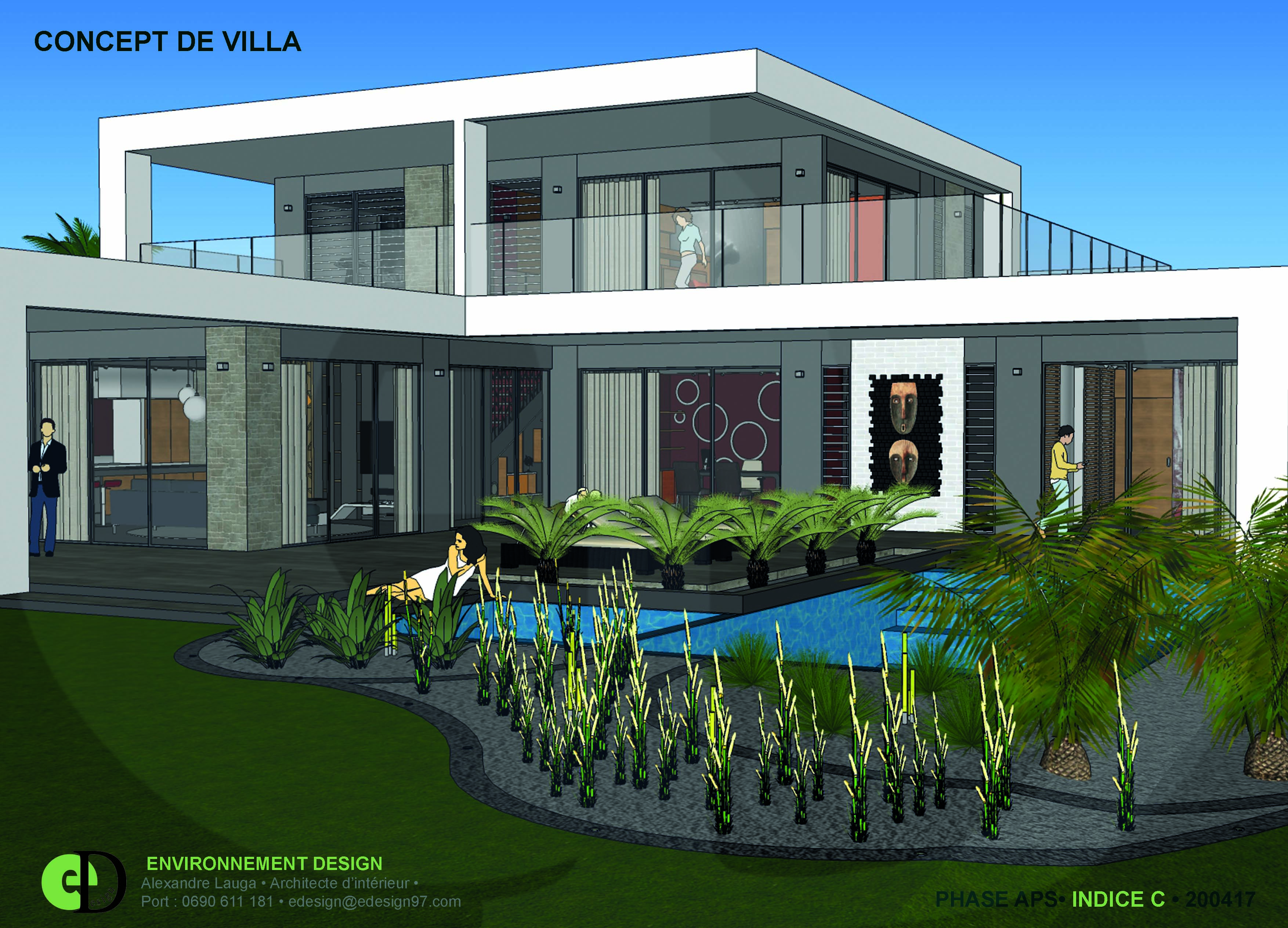 environnement design alexandre lauga architecte d 39 int rieur villa concept. Black Bedroom Furniture Sets. Home Design Ideas